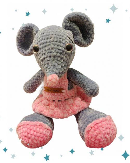 Szydełkowa mała Myszka – 25cm, Handmade