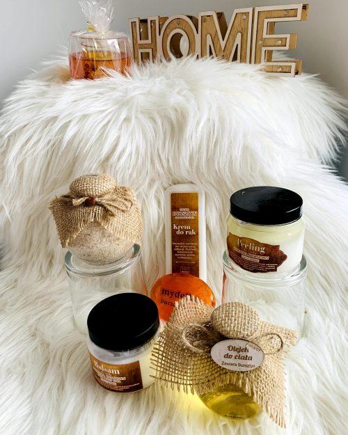 ZESTAW GOLD kosmetyki naturalne z bursztynem, 6 produktów